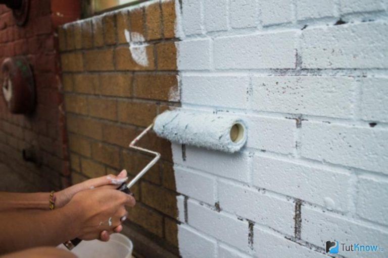 Кирпичная стена покраска своими руками