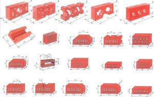 Размеры огнеупорного кирпича красного