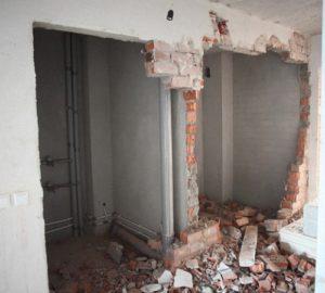 Как осуществляется демонтаж кирпичных стен своими руками