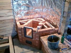 Как построить камин из кирпича