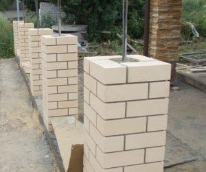 Поэтапное изготовление кирпичной колонны